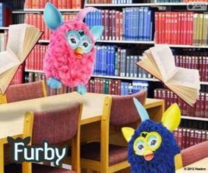 Puzzle Furbys dans la bibliothèque