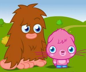 Puzzle Furi et Poppet, deux monstres drôles de Moshi Monsters