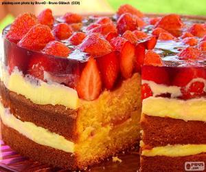 Puzzle Gâteau aux fraises délicieuses