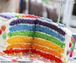 Puzzle Gâteau couleurs