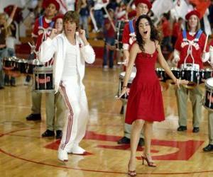 Puzzle Gabriella Montez (Vanessa Hudgens) Troy Bolton (Zac Efron) le chant et la danse