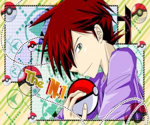 Puzzle Gary Chêne de Pallet Town, Pokémon Trainer est un petit-fils du professeur de chêne et rival de toujours de Ash Ketchum