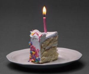 Puzzle Gâteau d'anniversaire, à la lumière des bougies