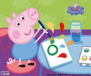 Puzzle George commence l'école