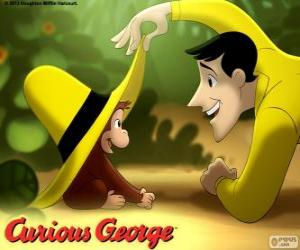 Puzzle Georges le petit curieux  et Ted, l'homme au chapeau jaune