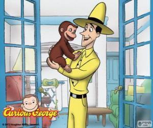 Puzzle Georges le petit curieux  et Ted