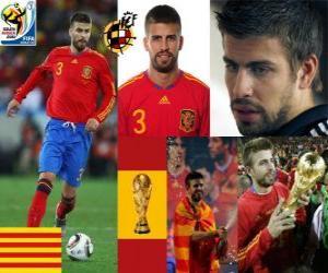Puzzle Gerard Pique (Le dandy de l'Espagne), défense de l'équipe nationale Espagnol