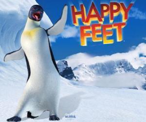 Puzzle Gloria est un manchot empereur femmes, Mumble est amoureux de Gloria dans le film Happy Feet