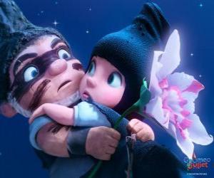 Puzzle Gnoméo et Juliette, dans une scène du film