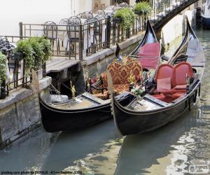 Puzzle Gondoles de Venise