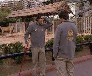 Puzzle Gonzalo voit Leandro au zoo