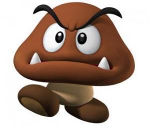 Puzzle Goomba, ennemis de Mario, une sorte de champignon avec les pieds