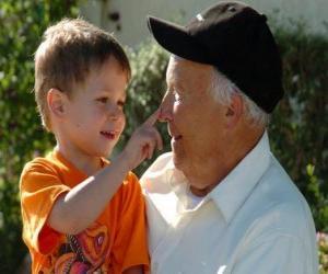 Puzzle Grand-père au petit-fils