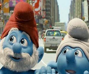 Puzzle Grand Schtroumpf et Schtroumpf Maladroit, les rues de Manhattan. - Les Schtroumpfs, film -