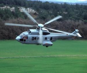 Puzzle Grande hélicoptère Cougar EC725
