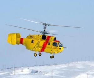 Puzzle Grande hélicoptère Kamov Ka-32A11BC
