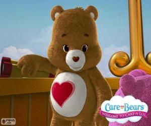 Puzzle Grosbisou, le petit ours avec un coeur sur le ventre