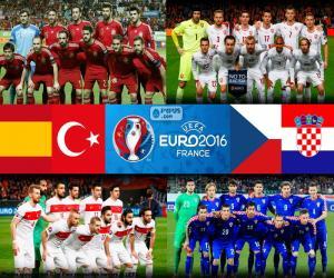 Puzzle Groupe D, Euro 2016