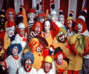 Puzzle Groupe de clowns