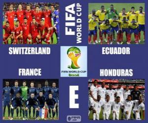 Puzzle Groupe E, Brésil 2014