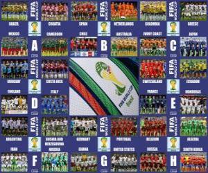 Puzzle Groupes Brésil 2014