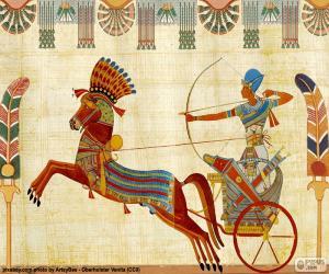 Puzzle Guerrier égyptien et chariot