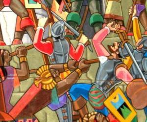 Puzzle Guerriers inca combats