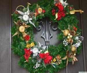 Puzzle Guirlande de Noël décoré