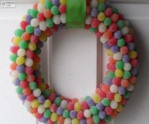Puzzle Guirlande de Noël de bonbons