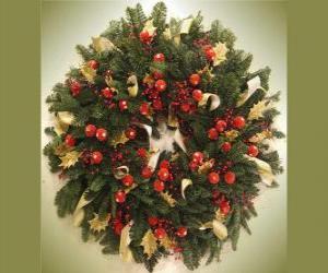 Puzzle guirlande de Noël avec des fruits
