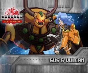 Puzzle Gus et Bakugan Vulcan