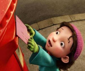 Puzzle Gwen, la fille qui Arthur doit livrer le cadeau de Noël