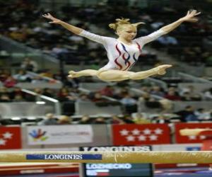 Puzzle Gymnastique artistique - Exercice dans le poutre
