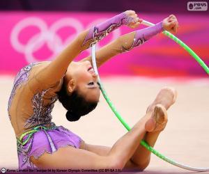 Puzzle Gymnastique rythmique avec cerceau