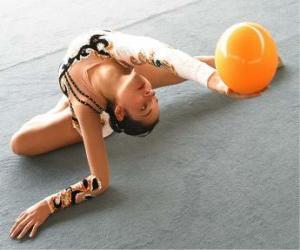 Puzzle Gymnastique rythmique - Enchainement  avec ballon