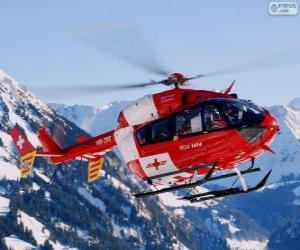 Puzzle Hélicoptère de sauvetage Suisse
