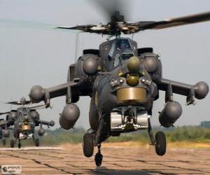 Puzzle Hélicoptère militaire