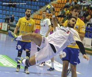 Puzzle Handball - Joueur pour lancer