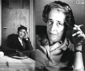 Puzzle Hannah Arendt, philosophe allemande et naturalisé américain d'origine juive