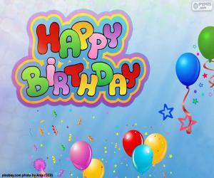 Puzzle Happy Birthday, joyeux anniversaire