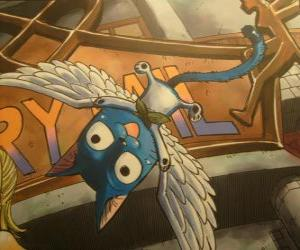 Puzzle Happy est un chat que avec la magie peut avoir des ailes, inséparable compagnon de Natsu dans les aventures de Fairy Tail