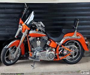 Puzzle Harley Davidson Orange