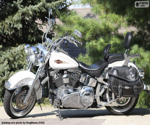 Puzzle Harley-Davison blanche