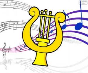 Puzzle Harpe, dessin