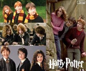 Puzzle Harry Potter et ses amis Ron et Hermione