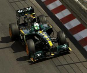 Puzzle Heikki Kovalainen - Lotus - Monte-Carlo 2010