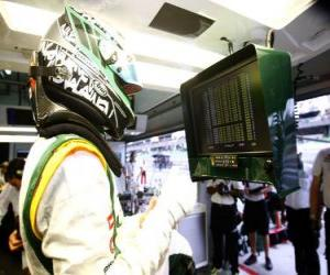Puzzle Heikki Kovalainen - Lotus - Sepang 2010