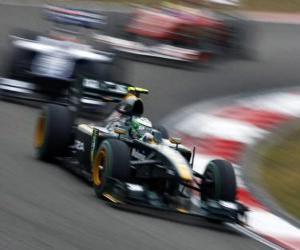 Puzzle Heikki Kovalainen - Lotus - Shanghai 2010