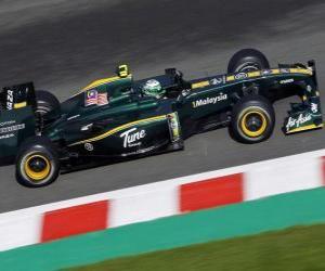 Puzzle Heikki Kovalainen - Lotus - Spa-Francorchamps 2010