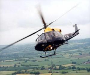 Puzzle Hélicoptère en action
